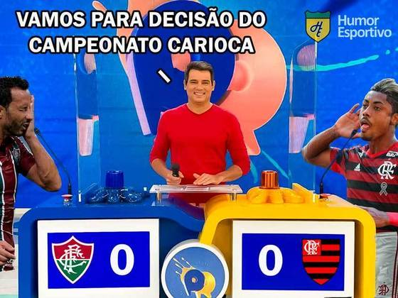 Final do Campeonato Carioca entre Flamengo e Fluminense na emissora de Silvio Santos foi sucesso de audiência e memes. Confira as melhores brincadeiras que circularam nas redes sociais durante o jogo!