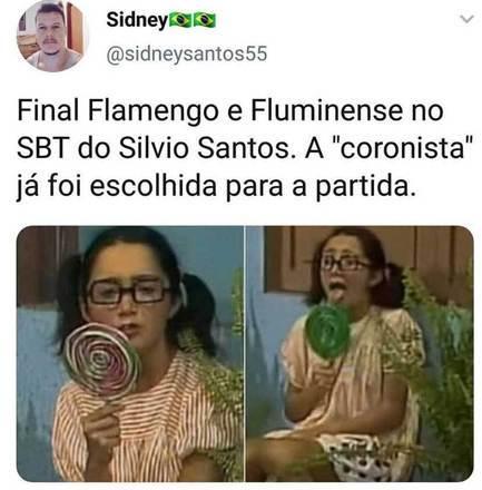 Transmissão da Final do carioca entre Flamengo e Fluminense no SBT vira meme