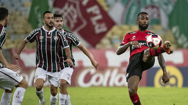 Final, jogo 1 - Fluminense 1x1 Flamengo (Maracanã - 15/05/2021) - Gol do Flamengo: Gabigol