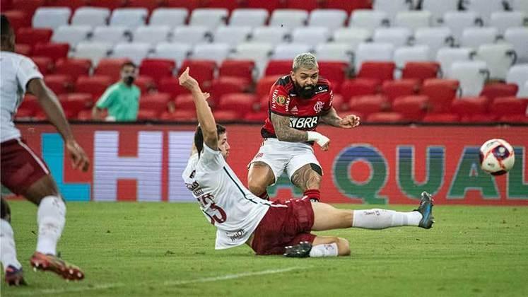 Final, jogo 2 - Flamengo 3x1 Fluminense (Maracanã - 22/05/2021) - Gols do Flamengo: Gabigol (2) e João Gomes.