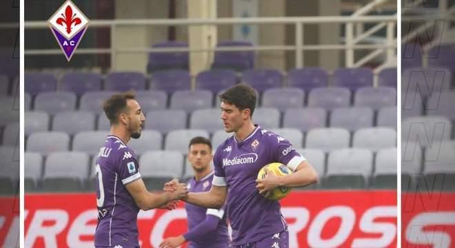 Castrovilli e Vlahovic, em 3', Juventus 0 X 1 Fiorentina