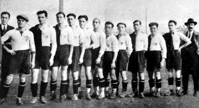 Uma formação da Fiorentina no final da década de 20 do Século passado