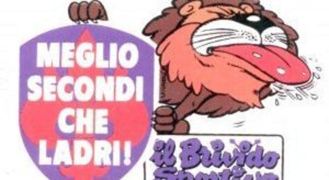 Um adesivo da Fiorentina, anti-Juve, da década de 80