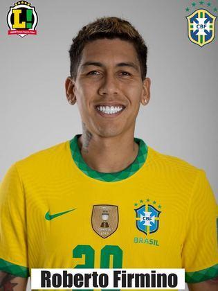 Firmino: 5,5 – Entrou e pouco conseguiu acrescentar à Seleção Brasileira.