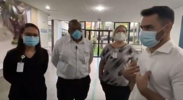 Deputados fizeram fiscalização surpresa em Hospital Geral de Guarulhos