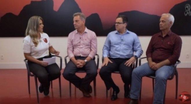Landim, Dunshee e Belotti são entrevistados no canal oficial do Fla
