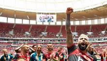 Fla conseguiu. Volta de público, em Brasília. 15 mil torcedores