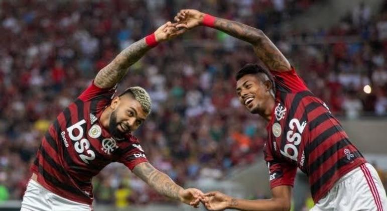 Gabigol e Bruno Henrique funcionaram novamente. Vantagem importante para chegar à decisão