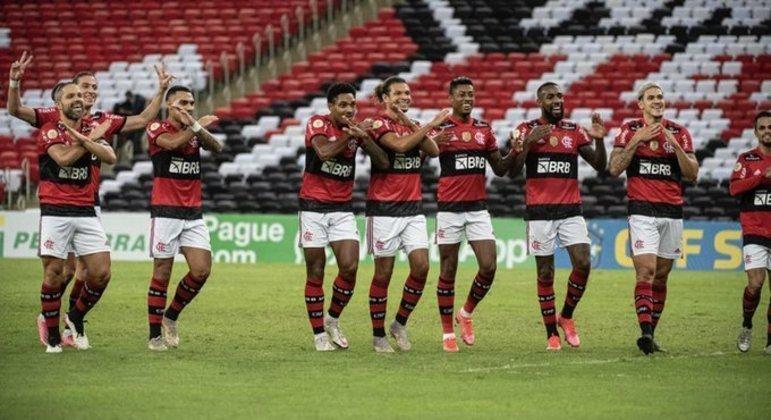 Jogadores do Flamengo homenagearam Gerson, com um 'vapo coletivo'