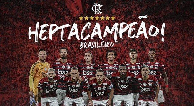 O time histórico do Flamengo. Campeão carioca, Brasileiro e da Libertadores