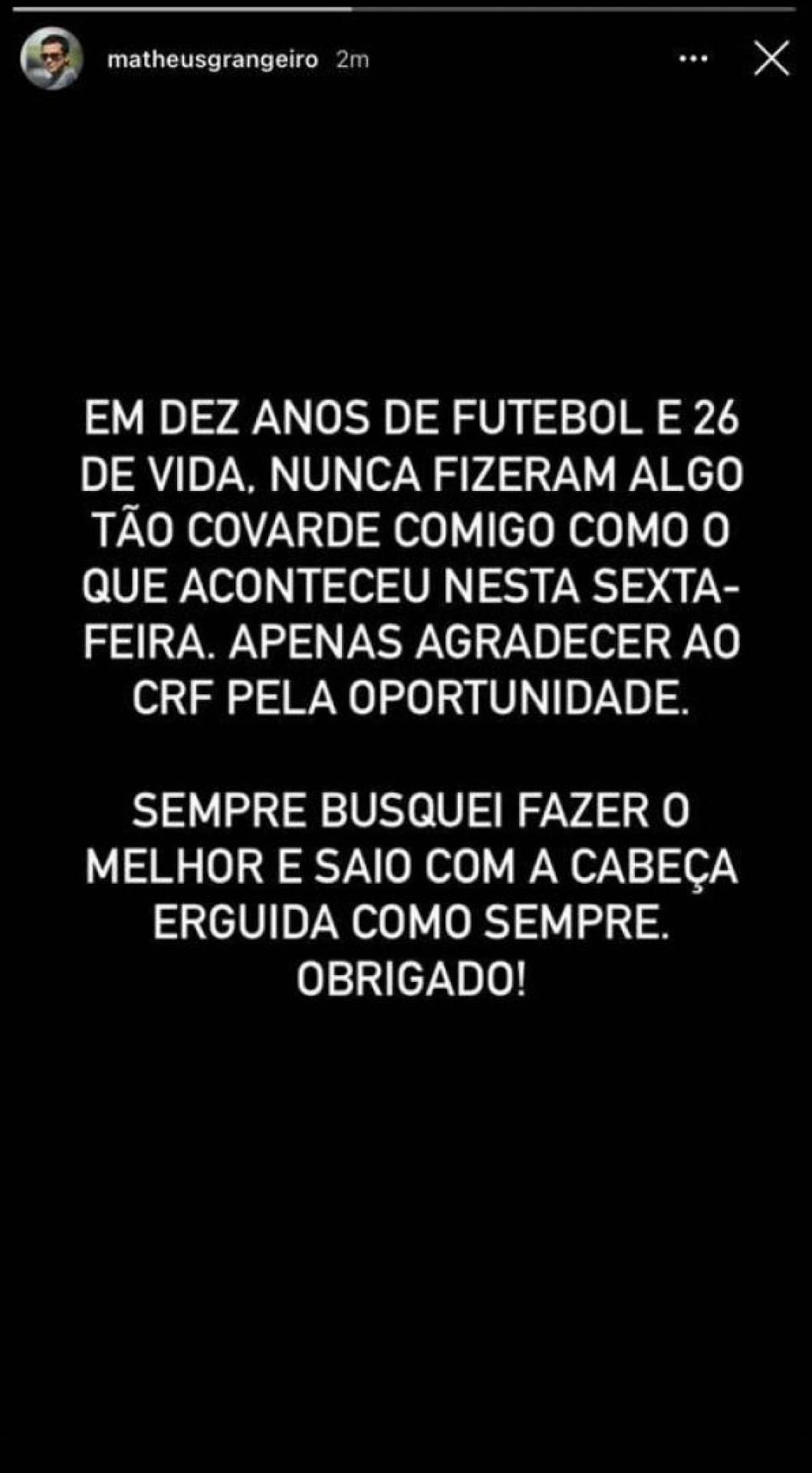 O funcionário que o Flamengo demitiu tratou de reagir. Atitude 'covarde'