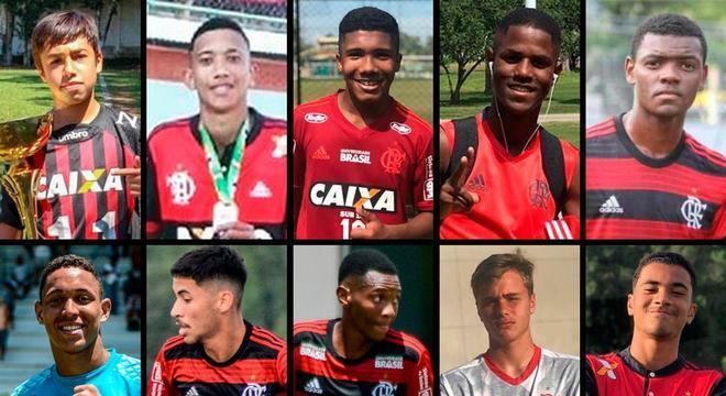 Meninos que perderam a vida no incêndio no Ninho do Urubu, em 2019
