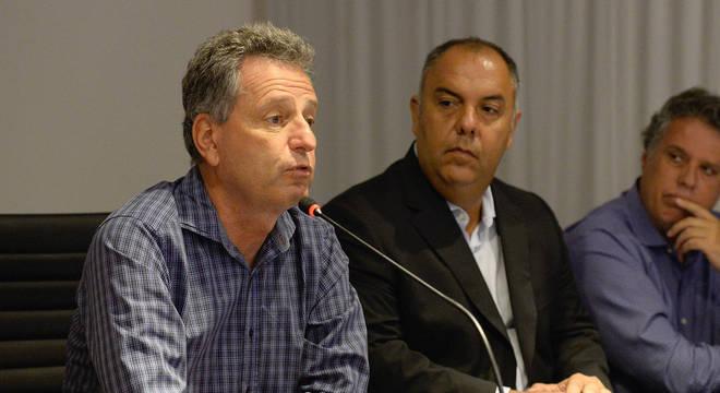 Landim confiante : mandou a diretoria buscar patrocínios para a transmissão