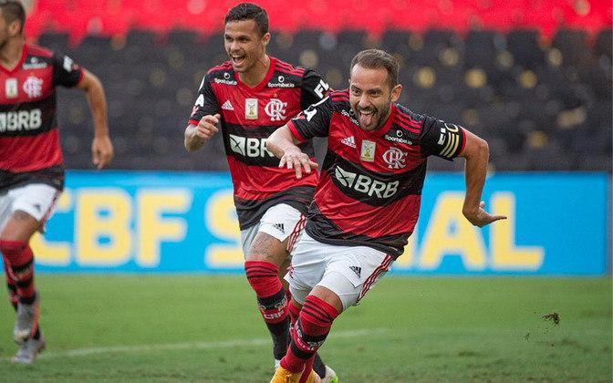 Flamengo, 3 SGs cedidos, 14 gols marcados- Sim, o atual campeão está na parte de baixo da tabela dos SGs! Ainda se adaptando á Domenec, dois jogos em branco aconteceram nas duas primeiras rodadas. A outra partida foi diante do Ceará, com um time modificado. Ainda acreditamos que o Rubro-Negro tem um imenso potencial ofensivo!