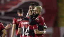 Flamengo empolgante. Melhor do que no Brasileiro