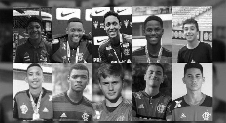 Os meninos mortos no improvisado dormitório na concentração do Flamengo