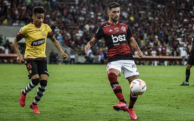 FLAMENGO 3x0 BARCELONA-EQU - O primeiro jogo no Maraca pela Copa Libertadores de 2020 trouxe mais uma vez a superioridade rubro-negra. Gustavo Henrique e Gabigol marcaram de cabeça e Bruno Henrique deixou o seu também.