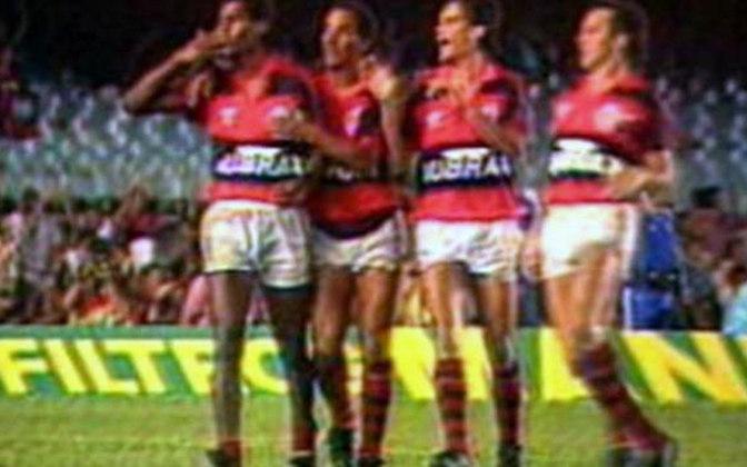 Flamengo 4x0 Fluminense - 9/4/1989 - Gols de Zé Carlos (2), Alcindo, Aldair e Bebeto