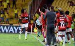 Na primeira partida, no Maracanã, o Rubro-Negro venceu por 2 a 0, com dois gols do Bruno Henrique, e foi para o Equador com uma boa vantagem