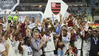 __Flamengo é campeão carioca de 2019 após vencer Vasco por 2 a 0__ (Dhavid Normando/Futura Press/Estadão Conteúdo - 21.04.2019)