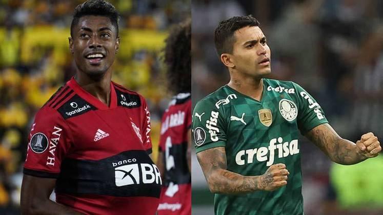Flamengo e Palmeiras chegaram a mais uma decisão de Libertadores, que será disputada no dia 27 de novembro. Os dois clubes, campeões das últimas duas edições do torneio, estão entre as equipes que mais vezes chegaram a final do torneio. Confira o ranking