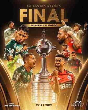 Flamengo e Palmeiras farão a grande final da Libertadores de 2021, em 27 de novembro. Levando em consideração os valores de cada jogador, confira qual seria a escalação ideal entre os dois times. Os valores são do site Transfermarkt, que é especialista em mercado da bola