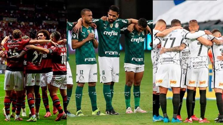 Flamengo e Palmeiras seguem no topo do ranking de arrecadações há alguns anos e são exemplos de clubes que conseguiram reduzir suas dívidas. Já outras equipes brasileiras possuem dívidas que se aproximam ou superam a casa do bilhão. Confira os 10 clubes brasileiros que mais tiveram receitas em 2020. Os dados são do site Sports Value