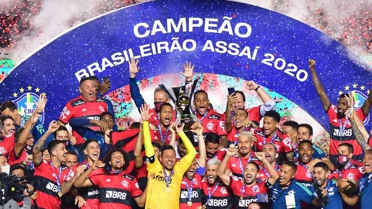 Flamengo - oito títulos: 1980, 1982, 1983, 1987, 1992, 2009 , 2019 e 2020 (foto)