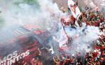 Flamengo, torcida, chegada Maracanã, Brasileirão 2020,