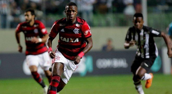Flamengo venceu o Atlético-MG por 1 a 0 Crédito: Flamengo / Divulgação