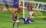 Pelo Flamengo, Rodrigo Muniz é quem mais chegou as redes, com cinco gols na competição. Logo atrás vem Vitinho, com 4 gols, e Gabigol Pedro, com 3 tentos cada
