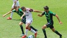 América-MG e Flamengo empatam em jogo com reta final eletrizante