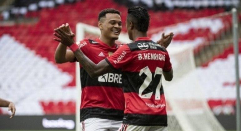Flamengo x América-MG - Bruno Henrique e Rodrigo Muniz