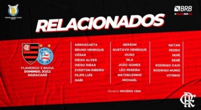 Flamengo x Bahia - Relacionados