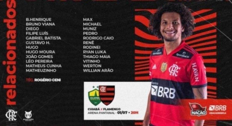 Flamengo x Cuiabá - Relacionados