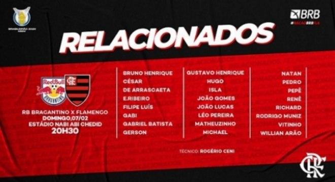 Flamengo x RB Bragantino - Relacionados