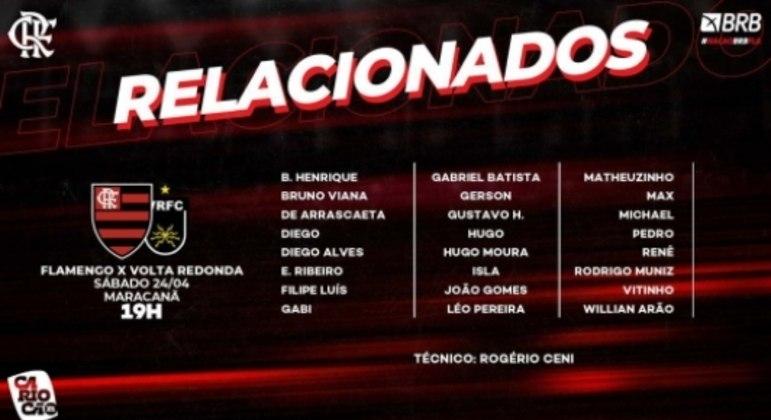 Flamengo x Volta Redonda - Relacionados