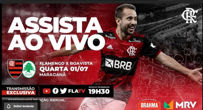 A gota d'água para a Globo. O Flamengo transmitindo seu jogo contra o Boavista