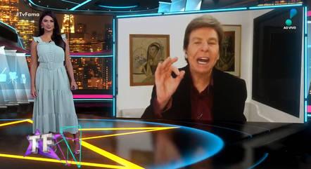"""Flávia Noronha e Nelson Rubens no """"TV Fama"""""""