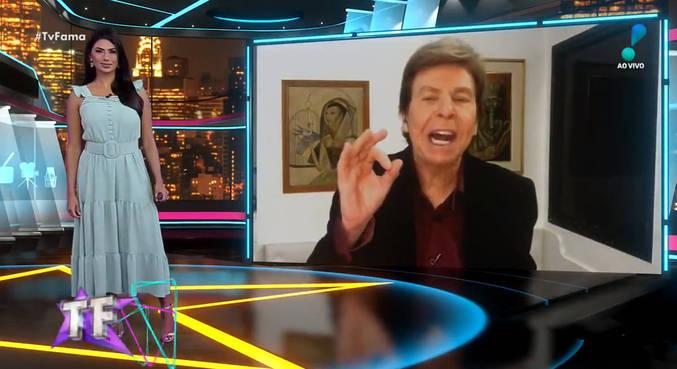 Flavia Noronha e Nelson Rubens trocaram farpas no 'TV Fama'