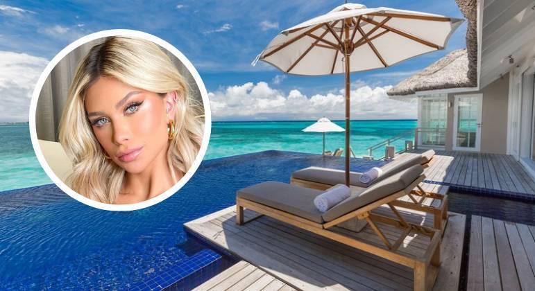 Flavia Pavanelli curte resort nas Maldivas com diárias de até R$ 8,3 mil