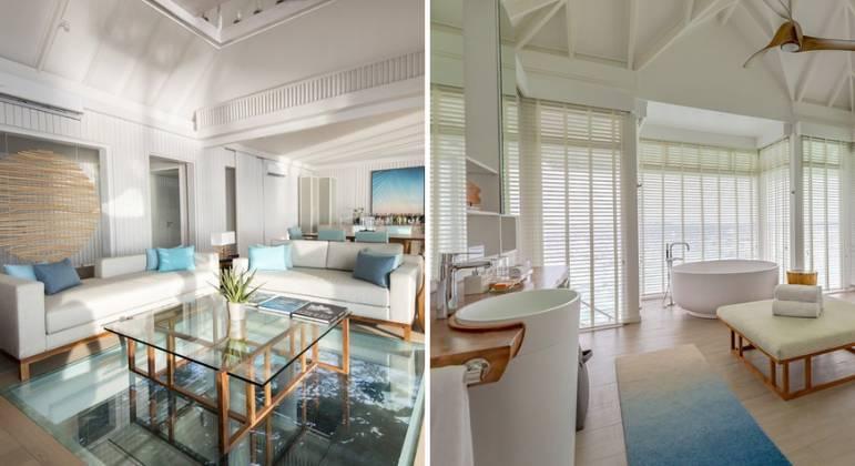 Pavanelli escolheu um resort de luxo para curtir os próximos dias
