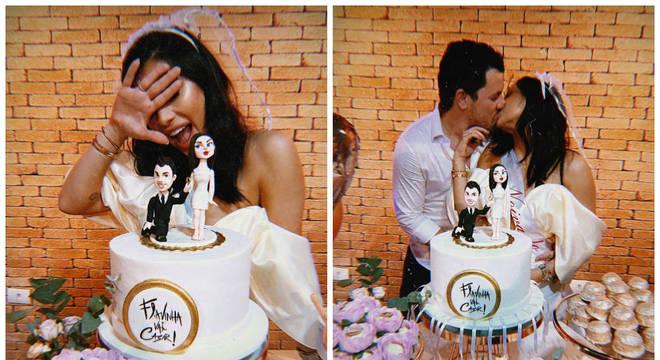 Flávia Pavanelli, ex de Kevinho, ganha festa de noivado surpresa