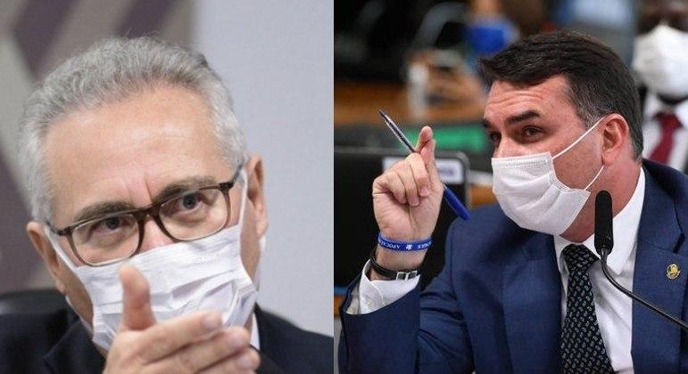 """Senadores já discutiram em maio, depois que Flávio chamou relator de """"vagabundo"""""""