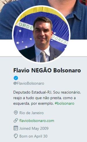Flávio NEGÃO Bolsonaro