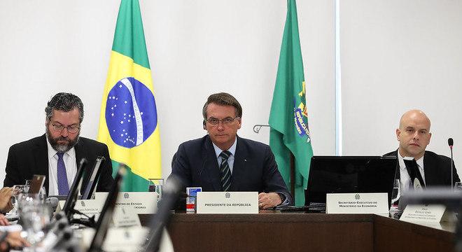 Jair Bolsonaro durante reunião do encontro de líderes do G20