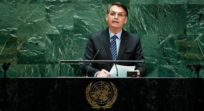 Bolsonaro fez o discurso de abertura na ONU
