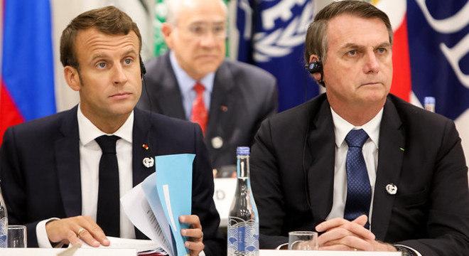 Bolsonaro afirma que não ofendeu mulher de Macron