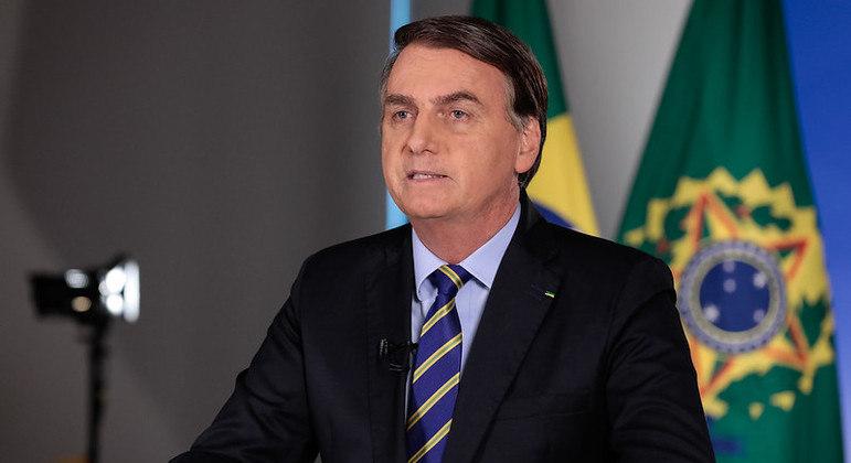 Presidente Jair Bolsonaro, durante pronunciamento à nação