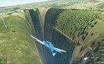 Jogadores recentemente descobriram um buraco bastante assustador no game Fligh Simulator, da Microsoft — que, como você está imaginando, simula voos ao redor do mundo